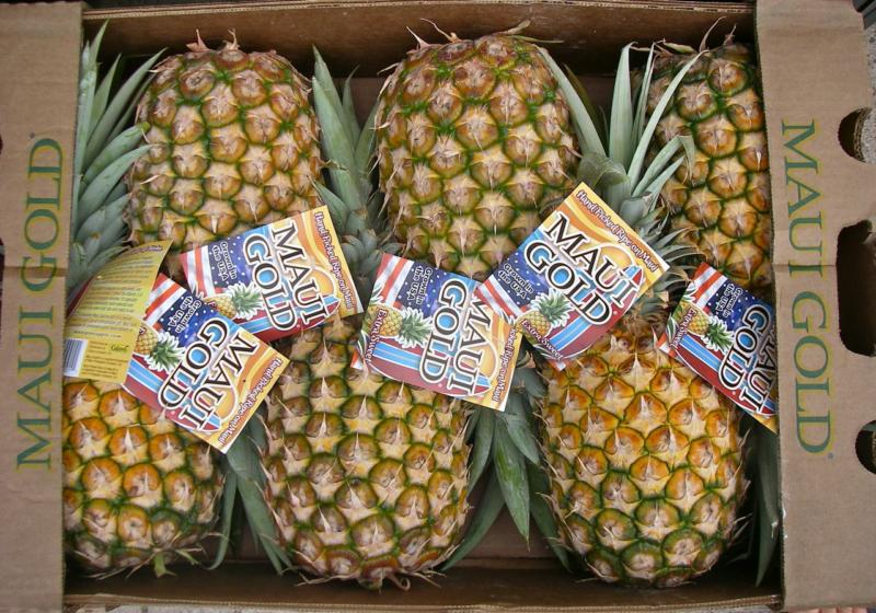 Maui Gold pineapples from Maui Hawaii