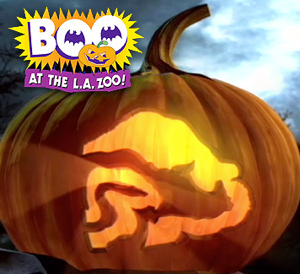 Boo at the  LA Zoo pumpkin poster