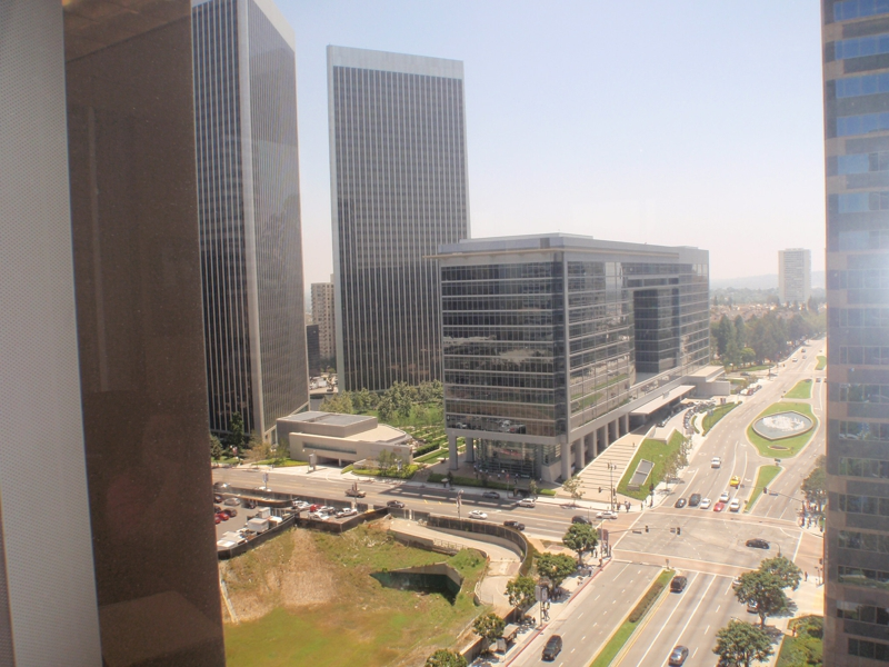 Views of Century City from one of the highrise builidngs