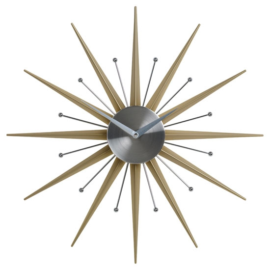 Mid Century Modern Style Wall Clocks By Nuevo Living