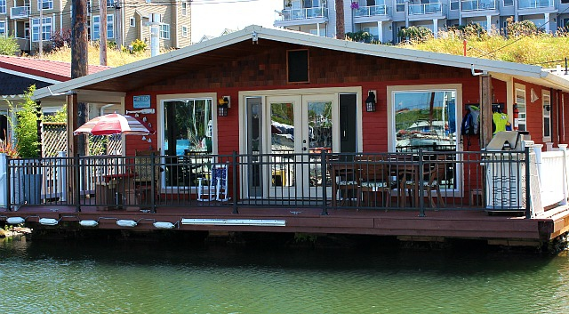 Enjoy living on the water in this updated floating home Floating homes portland