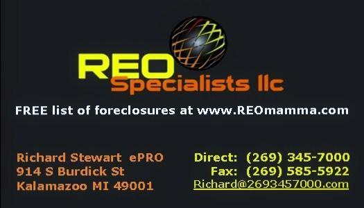 Richard Stewart REO Specialists llc 269-345-7000
