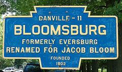 Bloomsburg Sign