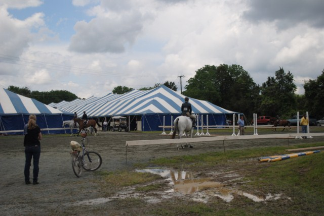 schooling area at the horse show