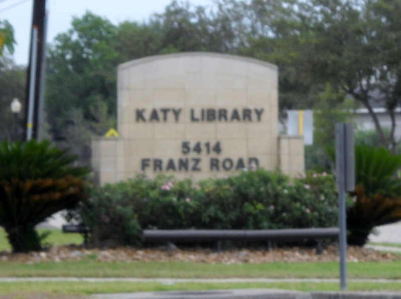 Sign for Katy Library