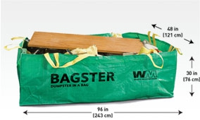 Bag for waste taken care of by waster management
