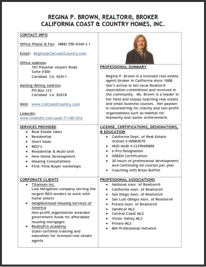 Real Estate Professionals  Where U0026 39 S Your Summary Sheet