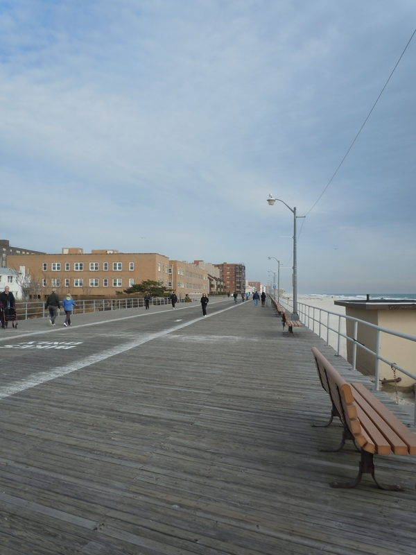 Long Beach New York Board Walk During The Winter Time