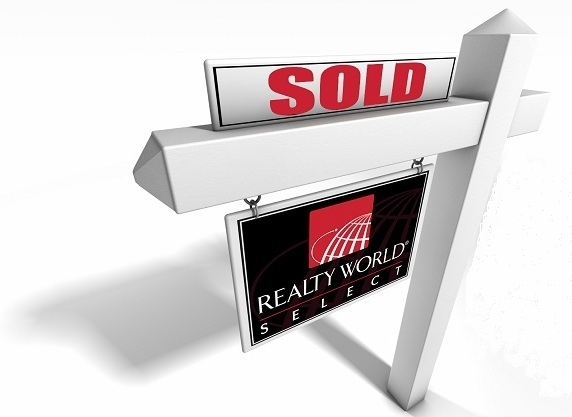 For Sale Yard Sign. realty world select yard sign
