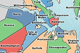 Map of Hampton Roads