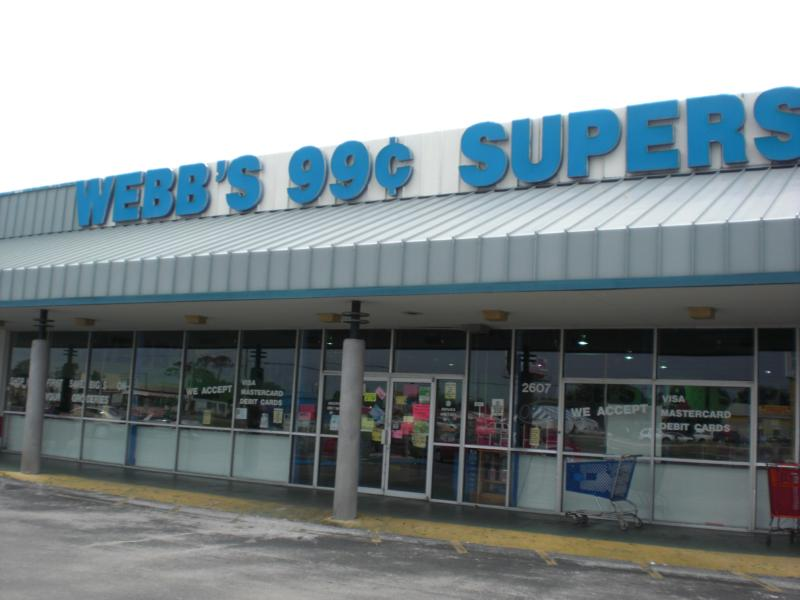 Webbs 99 Cents SuperStore In Holiday Florida Has Closed As Of June 29 2010