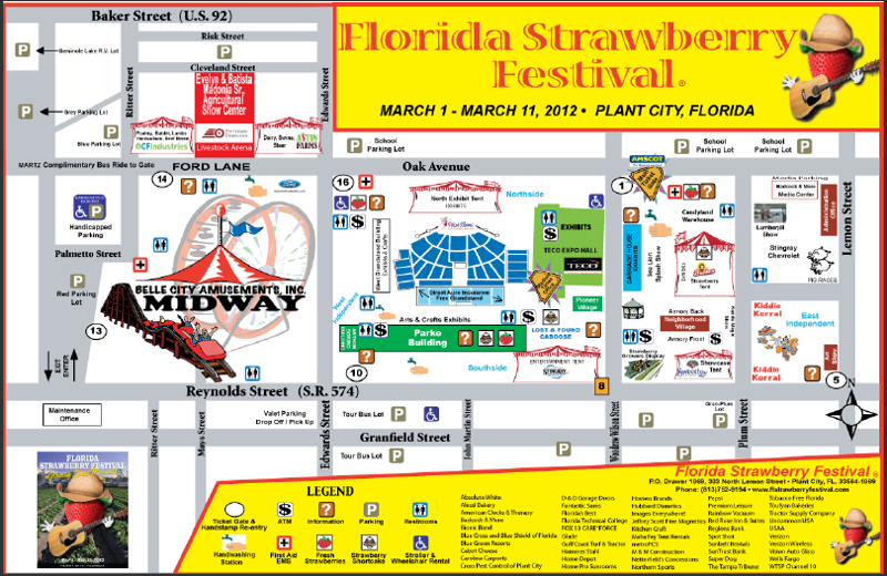 Parking for Florida Strawberry Festival