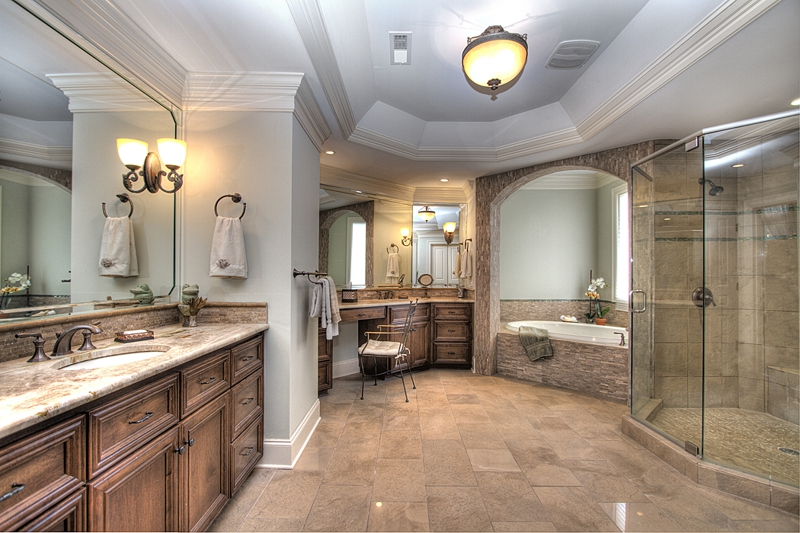 South charlotte luxury home for sale in gated skyecroft Luxury master bathroom suites