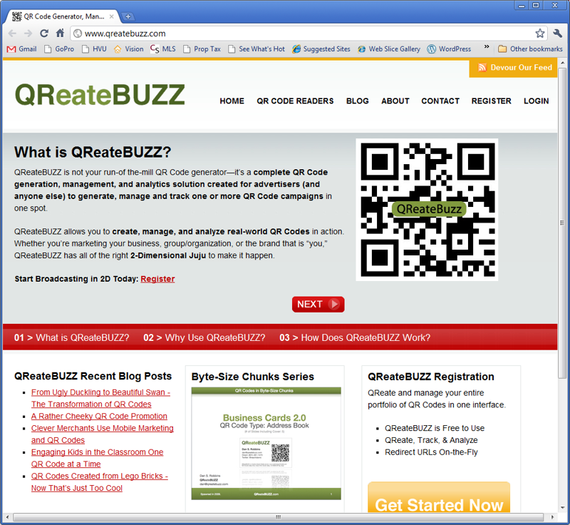 QReateBUZZ Homepage