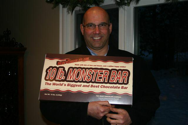 ten pound chocolate bar