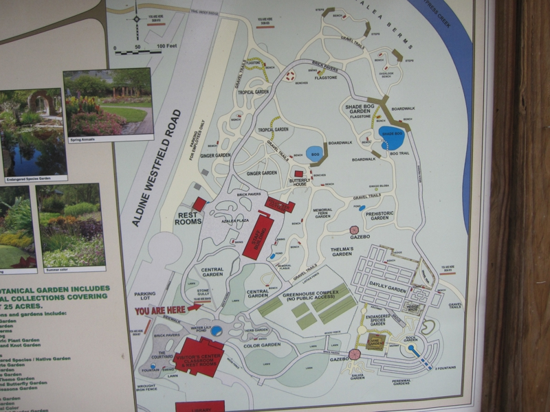 map of Mercer Arboretum
