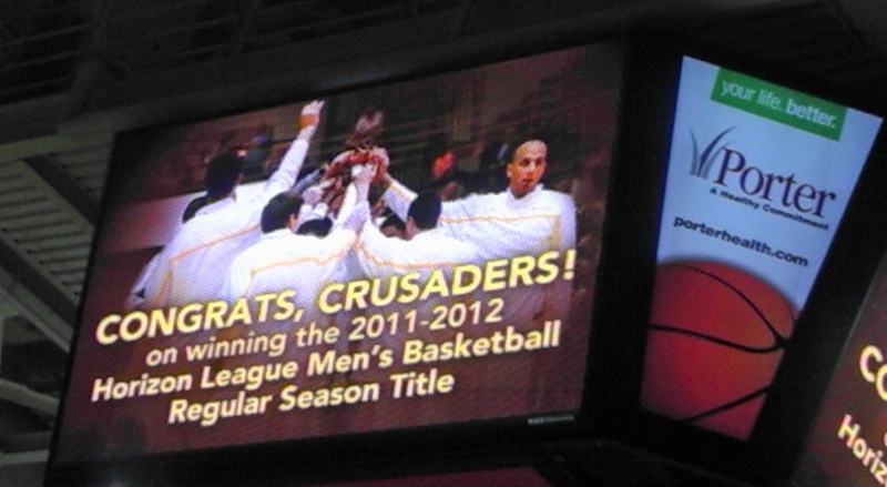 Congrats Crusaders on winning the 2011-2012 Horizon League men's Basketball Regular Season Title