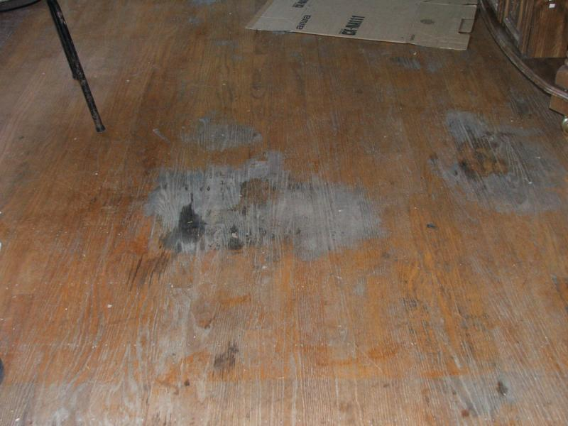 Ruined hardwood flooring