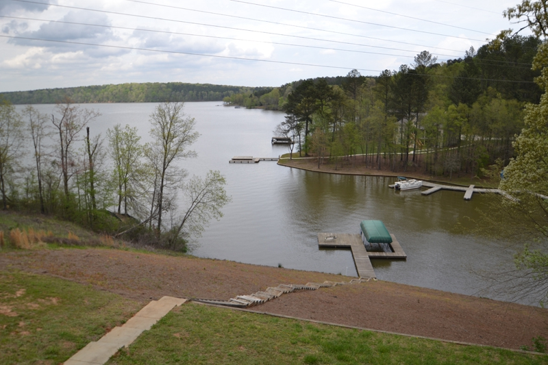Lake Oconee 1871 Northwoods dock steps