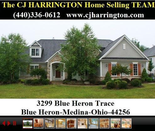 Cleveland Real Estate-3299 Blue Heron Trace- (Medina, Ohio 44256)...Call (440)336-0612 or Visit WWW.CJHARRINGTON.COM