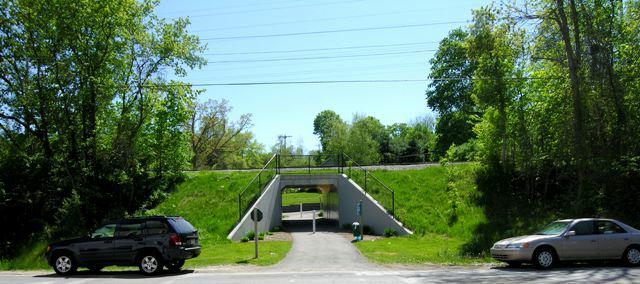 bike trail Railroad under pass in Ada MI