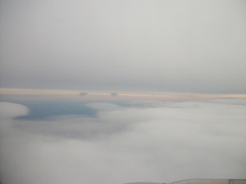 Above the clouds on our way to Orlando