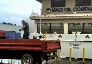 filling up at Maui Oil Company Maui