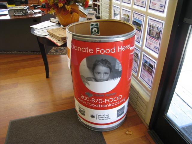 Benicia, Ca Food Bank Drop OFf