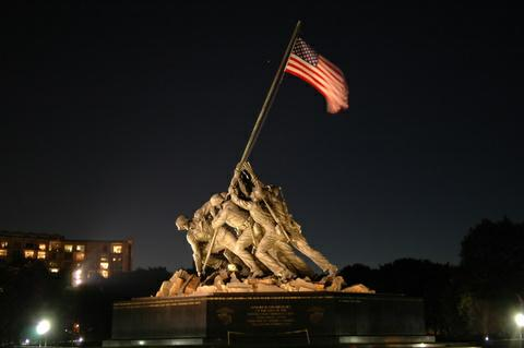 Marine Corps monument. Arlington VA