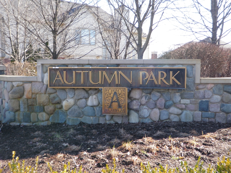 Autumn Park Novi Michigan Entrance Sign