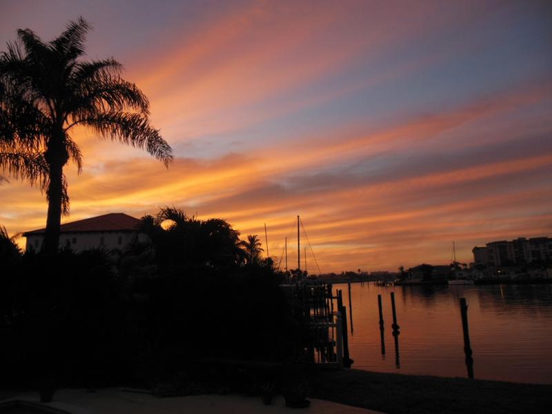 Sunsets and Sunrise in Treasure Island Fl