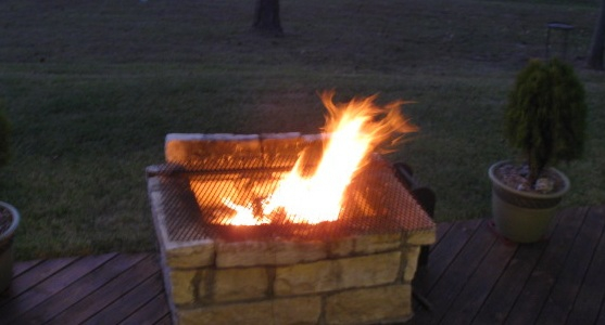 Firepit with a view of Lake Livingston and all the sights and sounds