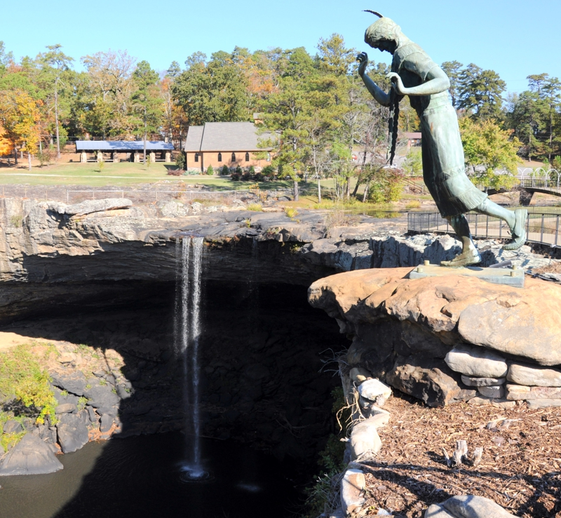 It Is A Short Drive From Your Pell City Home To Noccalula Falls Campground And Wedding Chapel