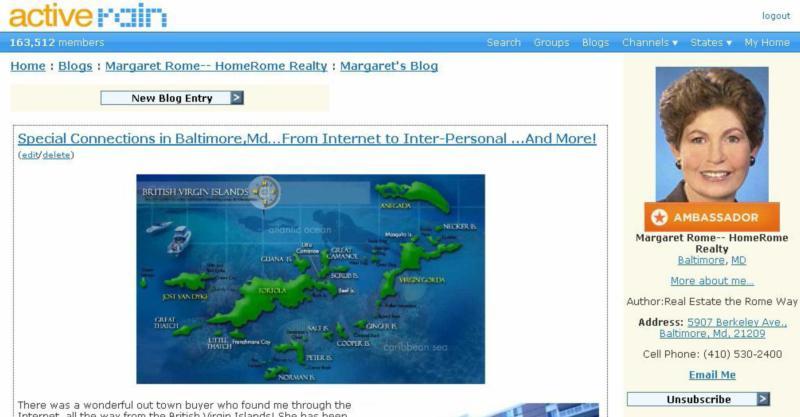 Screen Shot MRome Blog