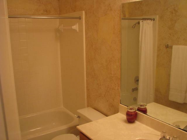 bathroom - home for sale - decorator wallpaper