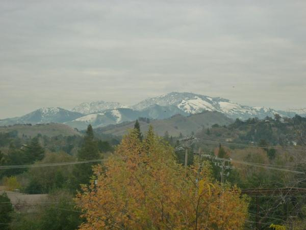 Mt. Diablo in the snow
