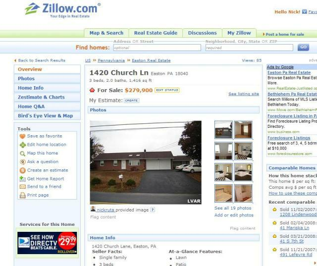 Zillow Control Panel 2