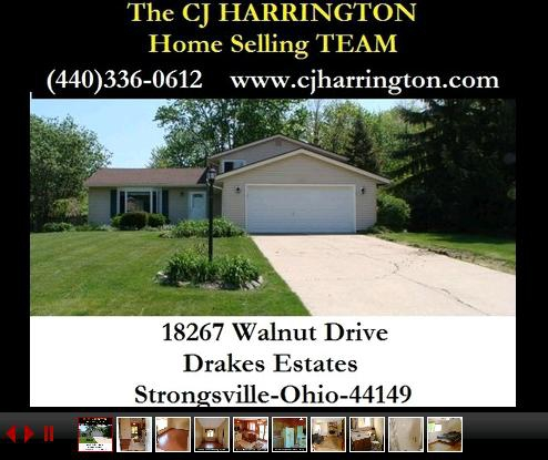 Cleveland Real Estate-18267 Walnut Dr(Strongsville, Ohio 44149)...Call (440)336-0612 or Visit WWW.CJHARRINGTON.COM