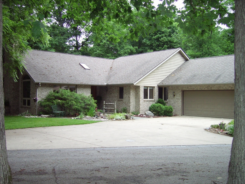 3 bedroom brick ranch with basement for sale near West Lafayette and Purdue University with wooded acreage/land listed for sale by Sharon Walter Keller Williams Lafayette, IN 47905,47906.