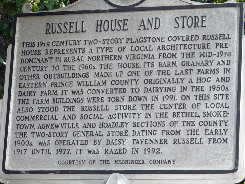 Russell House Sign