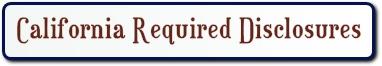 California required disclosures