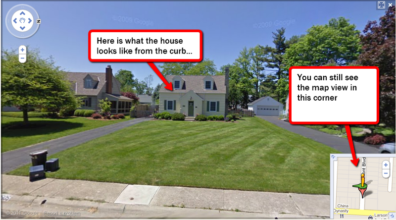 Google street view of Upper Arlington homes for sale