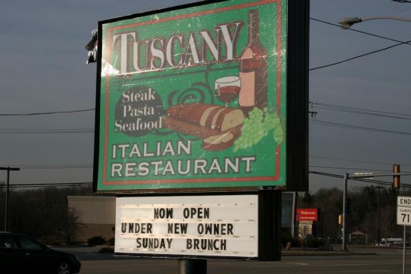 Tuscany Sign