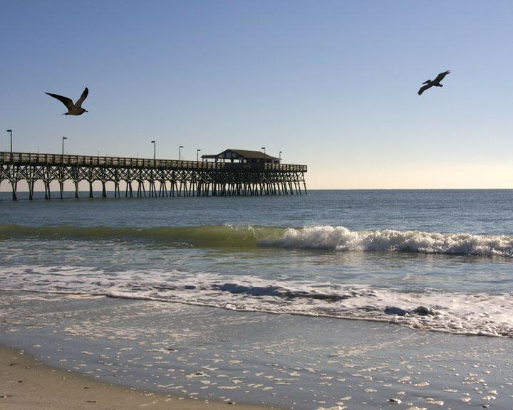 The beach myrtle beach for North myrtle beach fishing pier