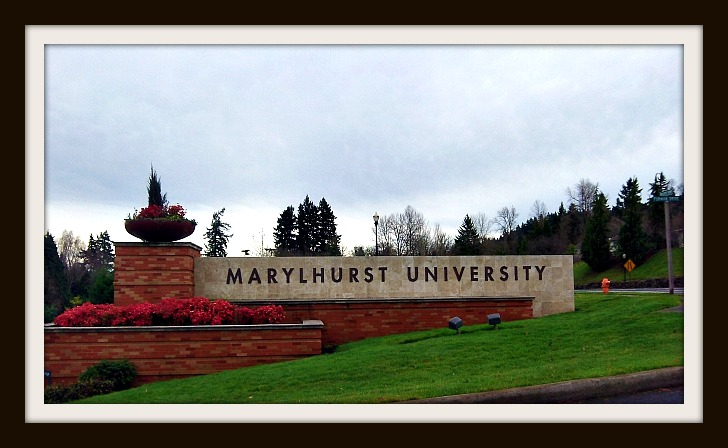 Marylhurst University entry sign