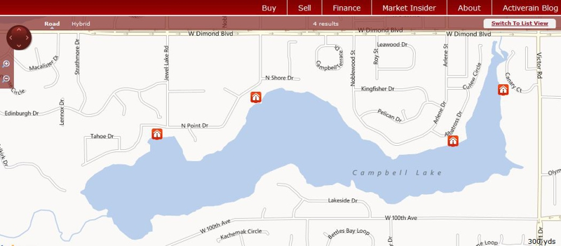 waterfront homes for sale on Campbell Lake in Anchorage AK