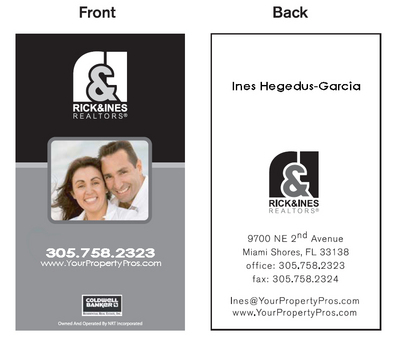 Rick and Ines business card