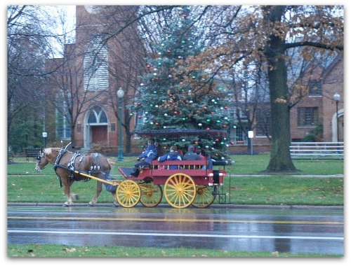horse carriage at Worthington Village Green