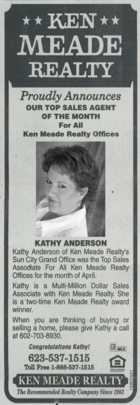 Top Sales Agent for Ken Meade Realty