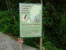 Entry sign to Stimson Family Nature Reserve